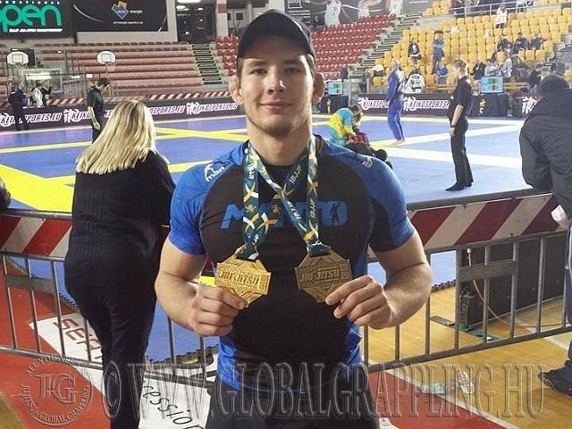Kristóf Rómában a NoGi EB-n egy arany- és egy bronzérmet szerzett