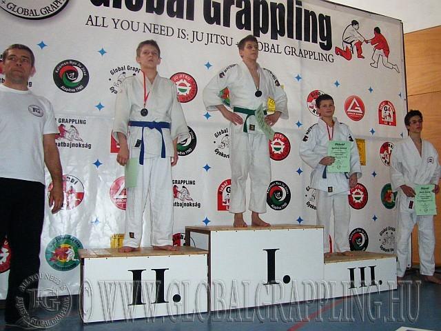 Gi Grappling Junior Fiú 52 kg. kategória dobogója