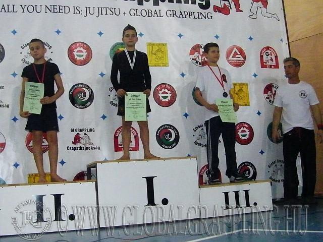NoGi Grappling Ifjúsági Fiú 41 kg. kategória dobogója