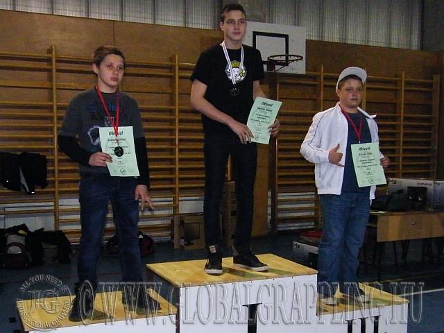NoGi Grappling Junior Fiú 66+  kg. kategória dobogója