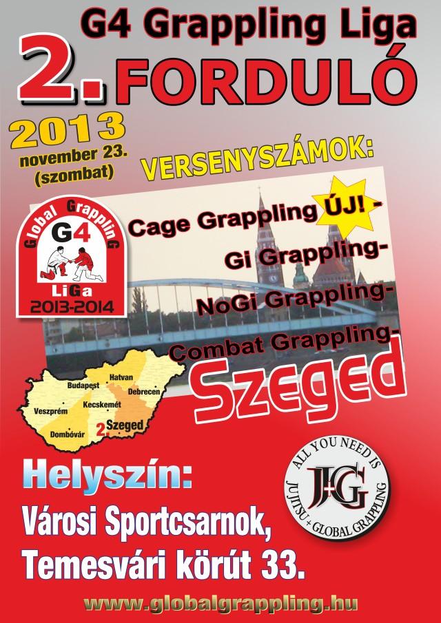 II. Szeged Grappling Bajnokság plakátja