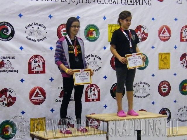 A NoGi Grappling Ifjúsági1 Leány 48  kg. kategória dobogója