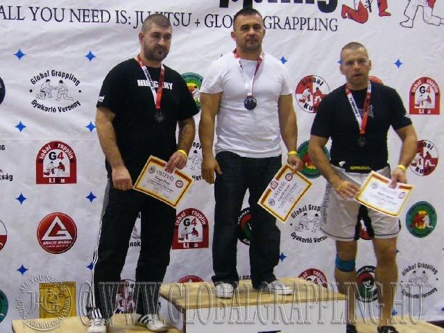 A NoGi Grappling Senior1 Férfi 95 kg. kategória dobogója
