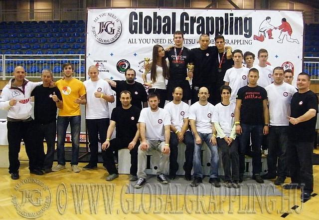 A II. Szeged  Grappling Bajnokság bírái és a segítők egy része