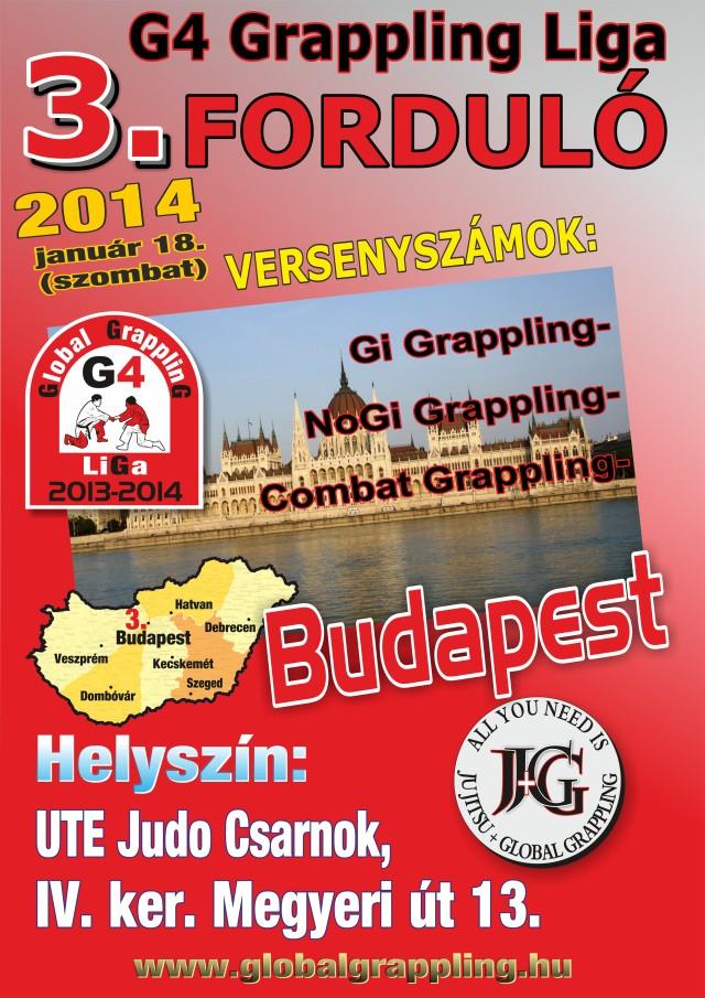 A II. Budapest Grappling Bajnokság plakátja