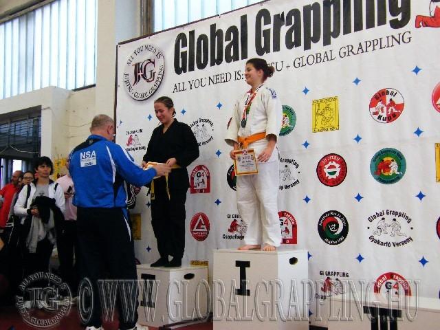 A Gi Grappling Junior Leány 66 kg. kategória dobogója
