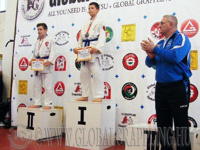 A Gi Grappling Ifjúsági1 Fiú 53 kg. kategória dobogója