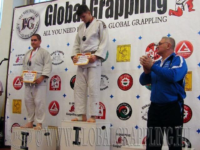 A Gi Grappling Ifjúsági2 Fiú 80+ kg. kategória dobogója