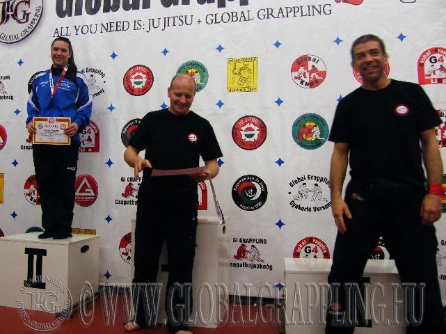 A NoGi Grappling Felnőtt Női 71 kg. kategória dobogója