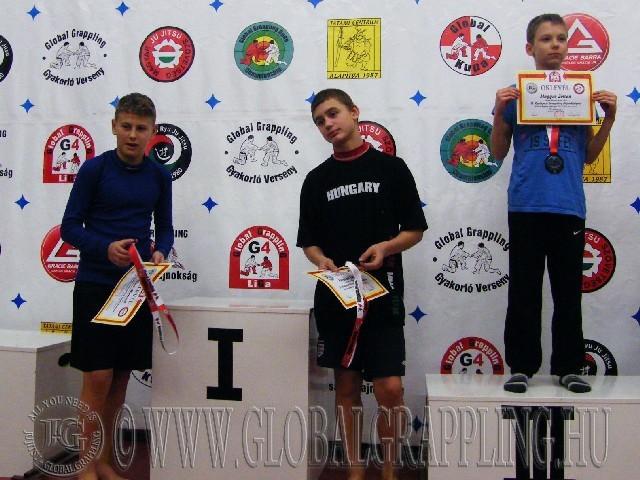 A NoGi Grappling Ifjúsági1 Fiú 41 kg. kategória dobogója