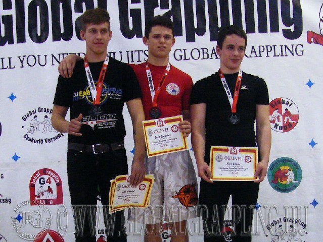 A NoGi Grappling Junior Fiú 79 kg. kategória dobogója