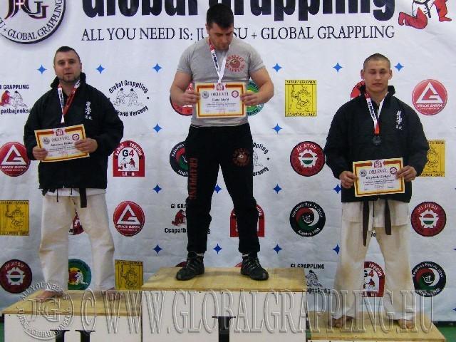 A Combat Grappling Felnőtt Férfi 95 kg. kategória dobogója