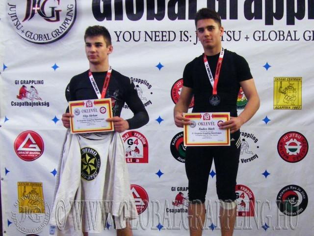 A Gi Grappling Junior Fiú 71 kg dobogója