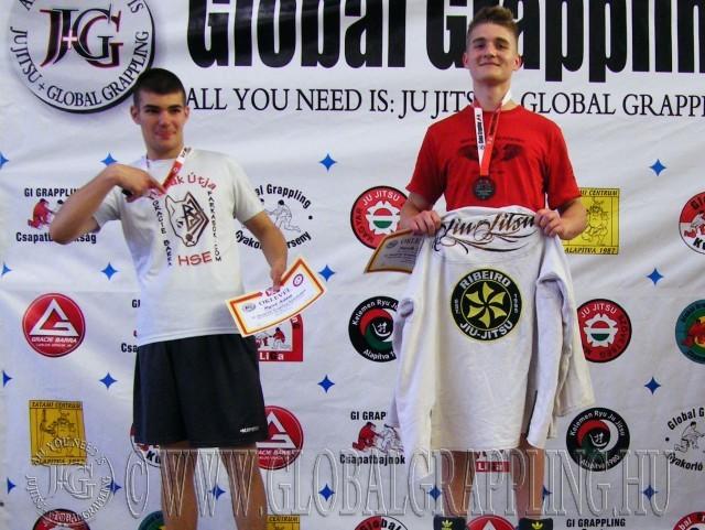A NoGi Grappling Ifjúsági 2 Fiú 80 kg dobogója