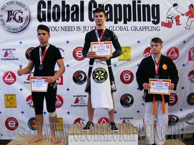 A NoGi Grappling Junior Fiú 71 kg dobogója