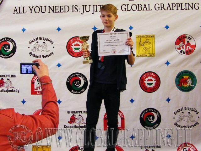 Legeredményesebb Gyermek versenyző Sárkány Balázs – Tatami Centrum