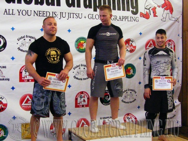 A NoGi Grappling Felnőtt Férfi 85 kg dobogója