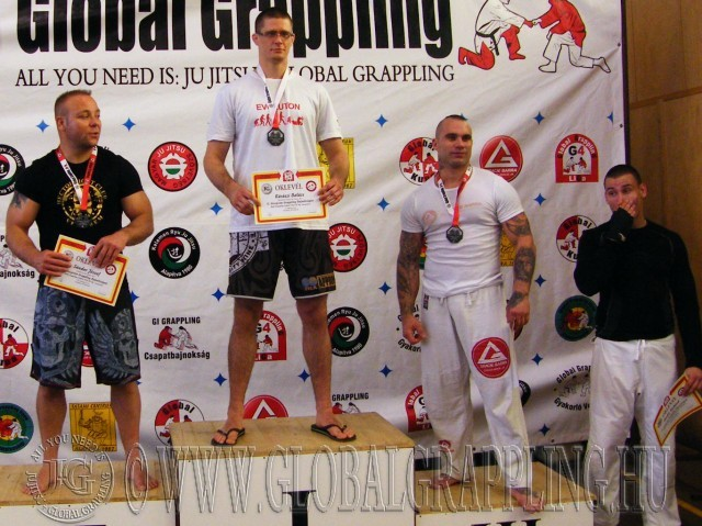 A NoGi Grappling Felnőtt Férfi 95 kg dobogója
