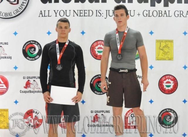 NoGi Grappling Junior Fiú 71 kg dobogója