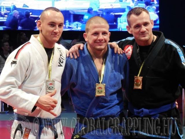 A Gi Grappling Férfi 85 kg kategória első három helyezettje
