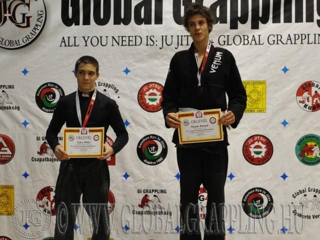 A Gi Grappling Junior Fiú 60 kg. kategória dobogója