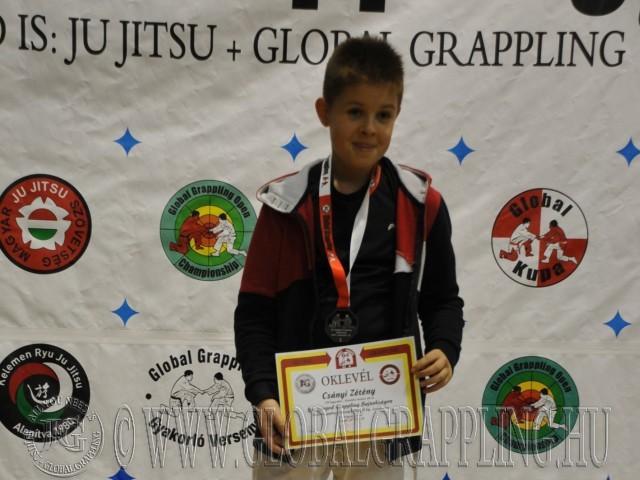 A NoGi Grappling Ifjúsági 1 Fiú 50 kg. kategória dobogója