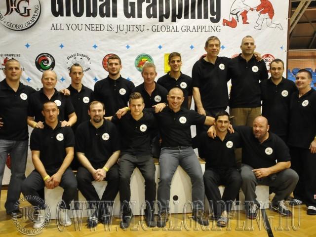 A Global Grappling bírói 2014-ben a szegedi versenyen