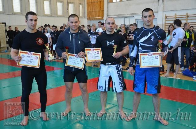 A NoGi Open Férfi -80 kg kategória helyezettjei