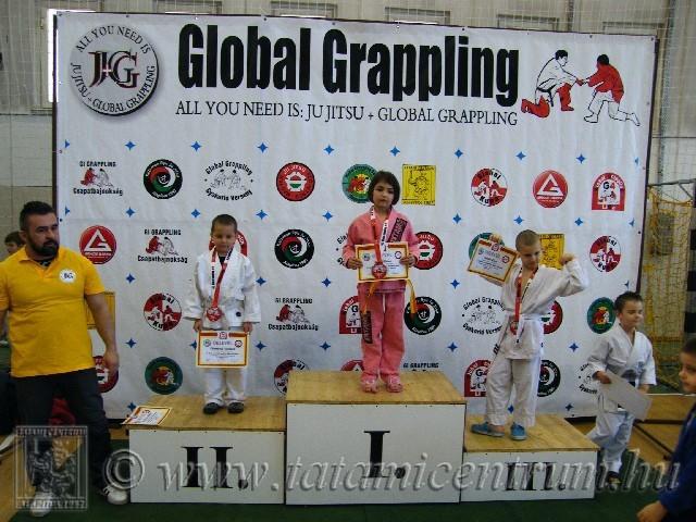 A Gi Grappling Manó Fiú 24 kg kategória dobogója