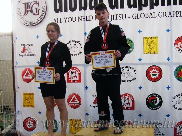 A NoGi Grappling Ifjúsági 1 Fiú 60 kg kategória dobogója