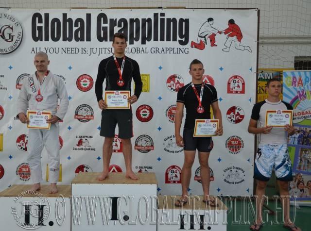 A Gi Junior Fiú 75 kg. kategória dobogója