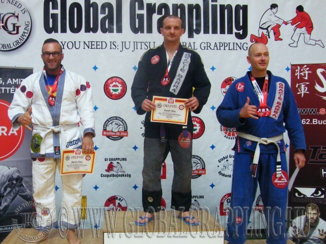 A Gi Grappling Master Férfi 95 kg kategória dobogója