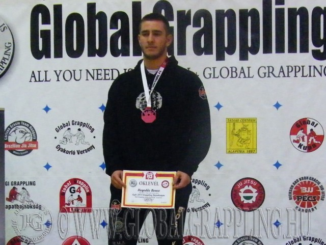 A NoGi Grappling Junior Fiú 95 kg kategória dobogója