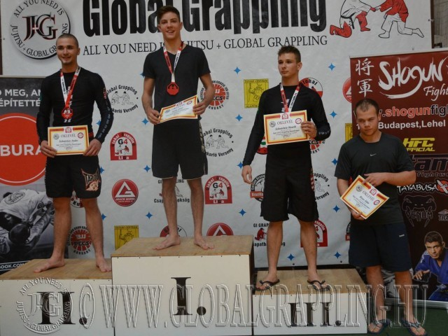 A Gi Grappling Junior Fiú 75 kg kategória dobogója