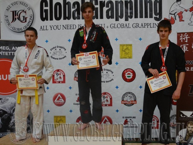 A Gi Grappling Junior Fiú 65 kg kategória dobogója