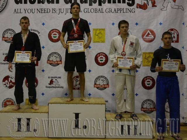 A Gi Grappling Junior Fiú 70 kg kategória dobogója
