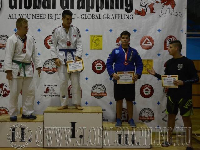 A Gi Grappling Junior Fiú 90 kg kategória dobogója
