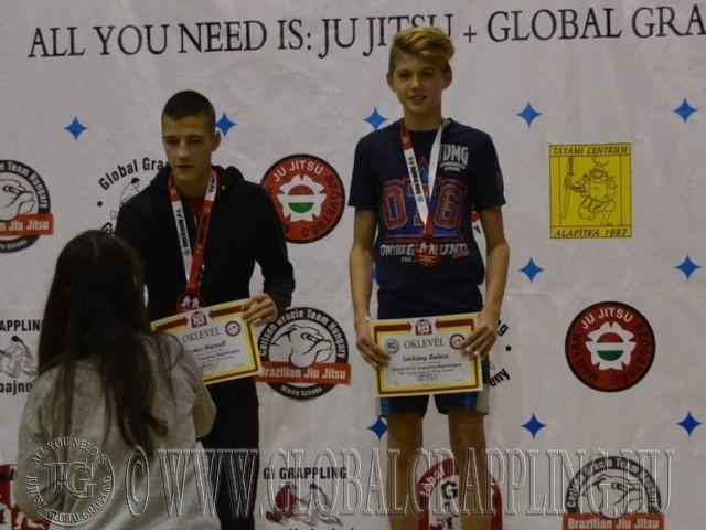 A NoGi Grappling Junior Fiú 55 kg kategória dobogója