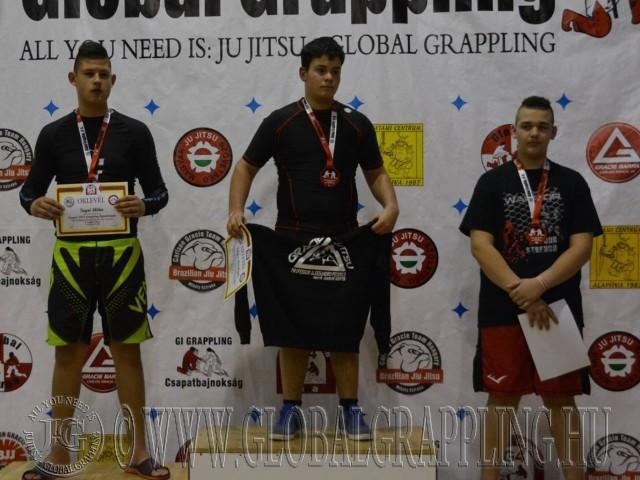 A NoGi Grappling Ifjúsági 2 Fiú 85+ kg kategória dobogója