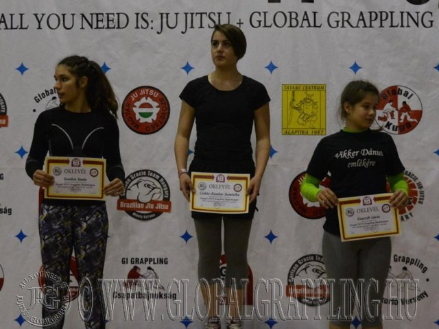 A NoGi Grappling Ifjúsági 2 Leány 60 kg kategória dobogója