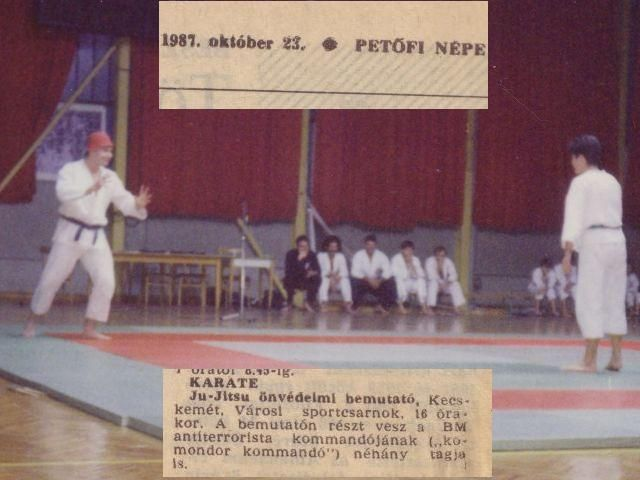 Pillanatkép az 1987-es bemutatótól, Berkes László támad Bagdi Zsuzsára. A padon ülnek Kelemen István, Szurkos Imre, Várszegi Rudolf, Gál István, Tóth Csaba