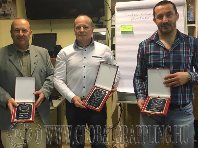 Nagy Róbert, Merkert Zoltán és Vancsik Nándor, az 'Év Embere 2015' díjazottak