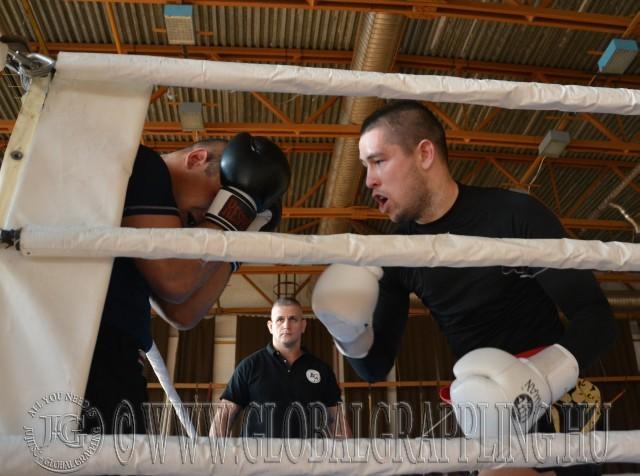 Laczkó Balázs bírónk a küzdelmet figyeli