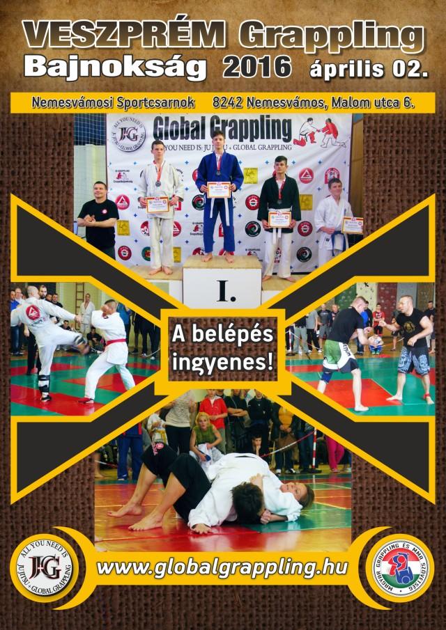 A Veszprém 2016 Grappling Bajnokság plakátja