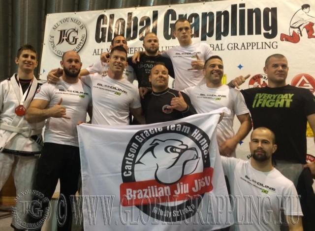 A Carlson Gracie Team Hungary csapata a Veszprém Bajnokságon
