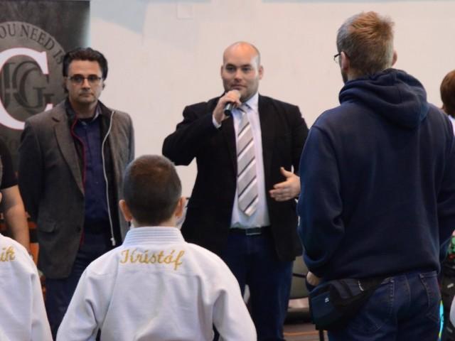 Darabos Gábor alpolgármester úr és Sípos Dániel a 3K Egyesület vezetője házigazda