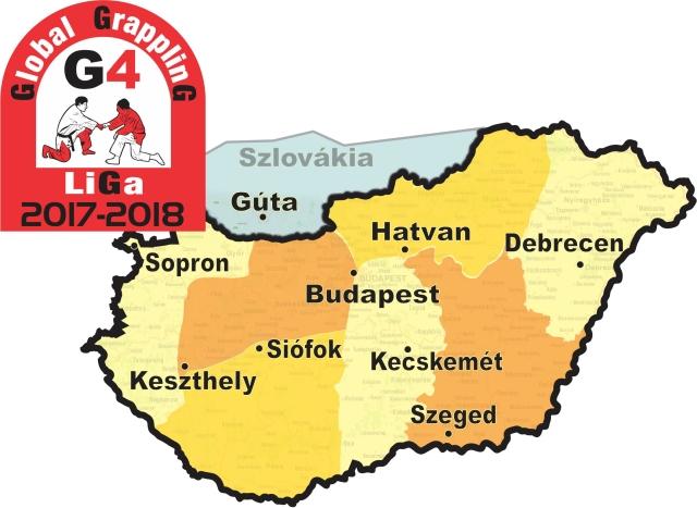 A tervezett fordulók helyszínei a térképen
