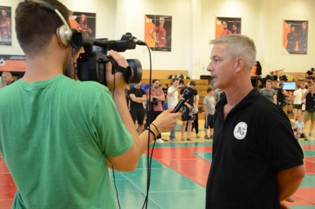 Kovács Gábor nyilatkozik a Balaton Televíziónak