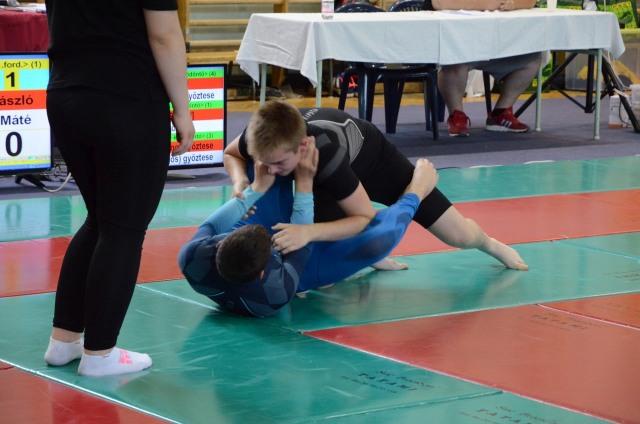 Pillanatkép a NoGi Grappling Fiú Diákolimpiáról