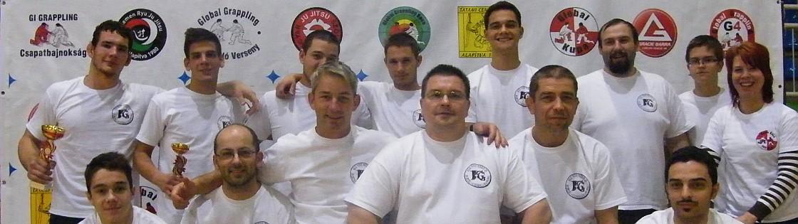 A szervezők csoportképe az I. Szeged Grappling Bajnokságon